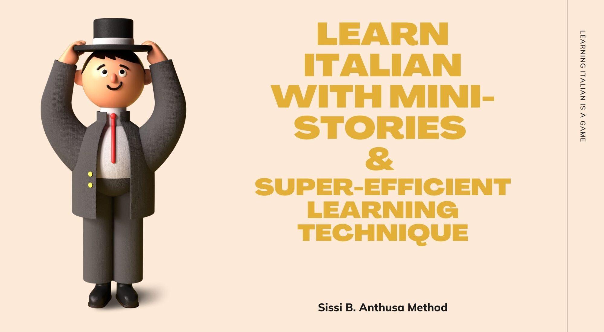 Learn Italian with mini stories